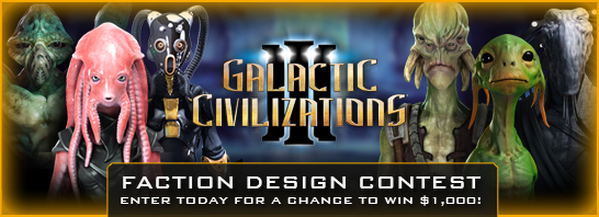 Win $1,000 in Galactic Civilizations III Faction Design Contest