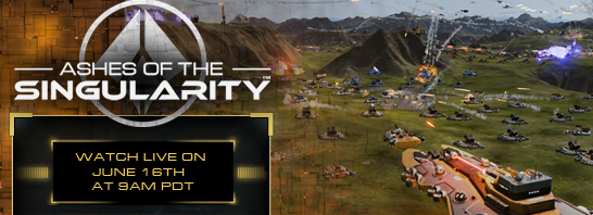 Stardock to showcase Ashes of the Singularity with AMD at the PC Gaming Show June 16th