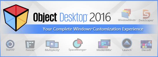 Stardock Announces Object Desktop 2016, a Complete Windows Customization Experience