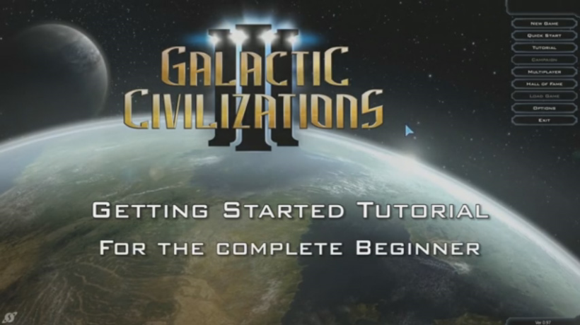 Galactic Civilizations III Beginner Tutorial