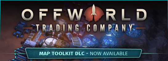 Offworld Trading Company adds New Map Toolkit DLC