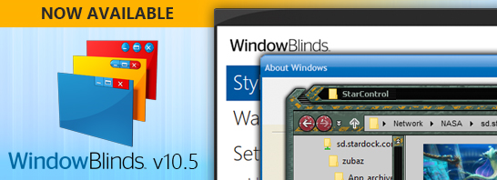 WindowBlinds v10.5 Update Introduces Universal App Skinning and More