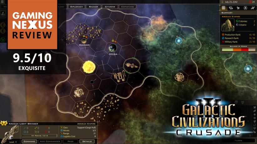 Gaming Nexus gives Crusade a 9.5!