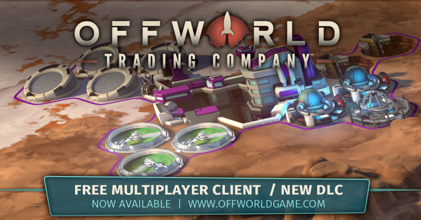 FREE Multiplayer Client and New DLC for Offworld Trading Company are Now Available!