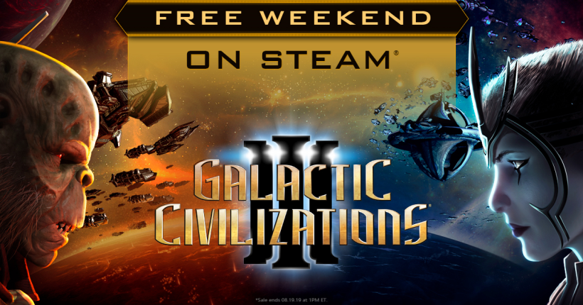 FREE WEEKEND: Try Galactic Civilizations III on Steam August 15th - 19th!